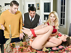 Aften eats her dangled stepdad's johnson, and Alix eats down her stepsons ginormous dick. Then, they all pamper in some sizzling snatch penetration! This family friendly orgy has everyone perceiving additional thankful.