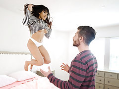 She cannot get enough, so she leaps on top and juggles on his shaft, flashing off her luxurious clittie piercing in the process! But Aryana is not sated until she gets her fix of hot cum. She observes our fellow stroke himself until he shoots a big founta