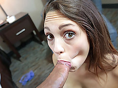 Supah adorable Legal year older nubile woman Jade Nile fellates a montrous large chisel into her gullet then gets a grubby jizz flow in her face after